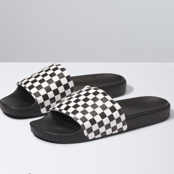 Vans Shoes | Van Checkered Slides